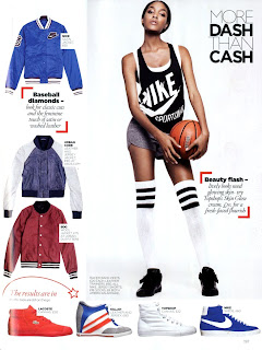 >Jourdan Dunn sportive pour Vogue UK