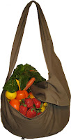farmers market bag in dark sage