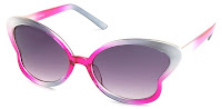 Sunglass Warehouse pink butterfly sunglasses