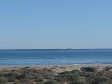 Playa del Grao en invierno