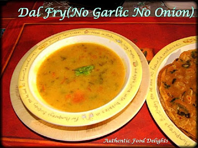 Authentic food delights dal fry no garlic no onion hi this recipe was given by my friend keerthi which can be prepared without onion and garlic and i do this dal every now and then as its good for health forumfinder Choice Image