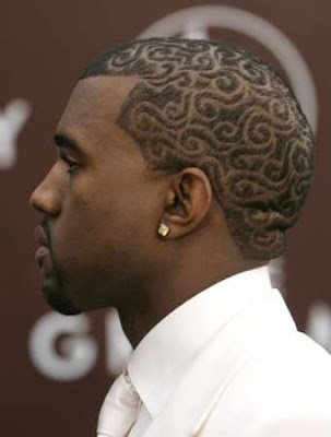 Kanye West's Collaboration With Louis Vuitton him on some new hairstyle
