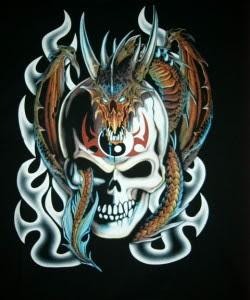 Dragon and Skull Tattoo Designs