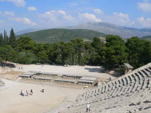 The sanctuary of Asclepios to whom LaMama E.T.C. had just made a play to pay tribute