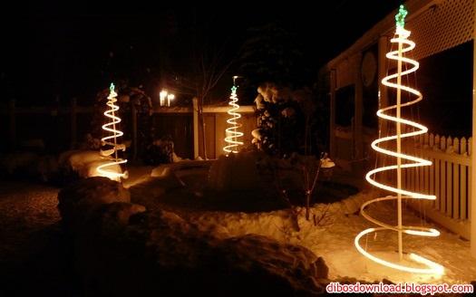 snow and night lights