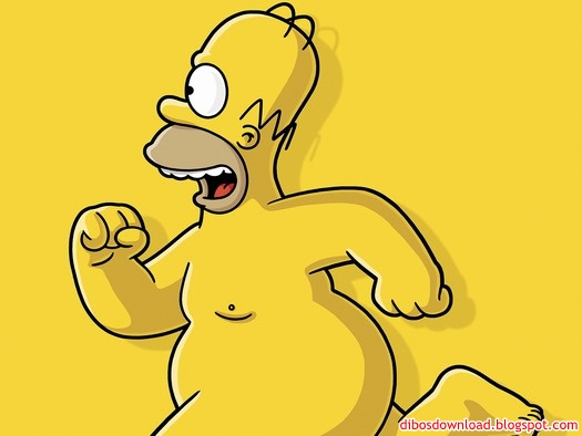 simpson half naked