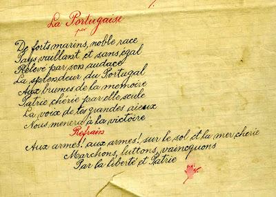 entendida pelos franceses quando as tropas portuguesas o cantavam
