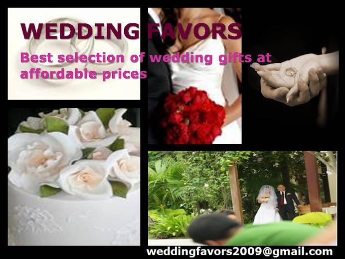 Unique Wedding Favor Boxes