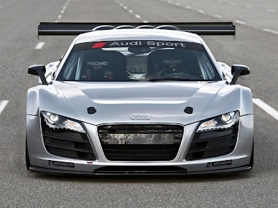 Car Wallpaper 1024 768 - 2009 Silver Audi R8 GT3