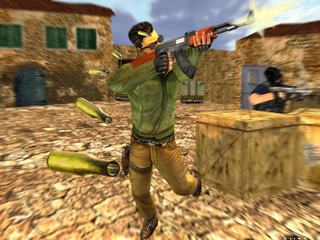 Counter Strike Wallpaper Terrorists Shooting 1024 X 768 Wallpapers