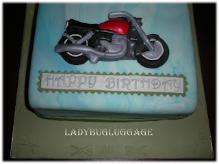 Ladybug Luggage Gourmet Cookies Cakes Motorcycle Cake