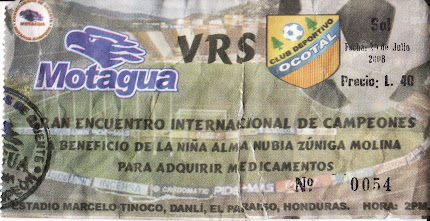 Partido Motagua - Deportivo Ocotal