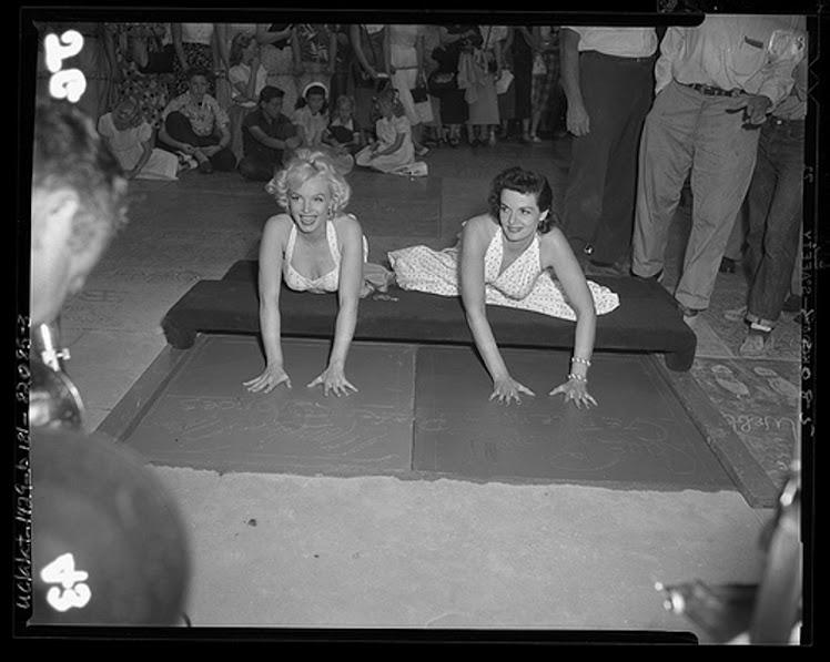 Marilyn y Jane Russel