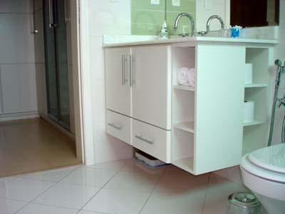 armario de banheiro em mdf branco