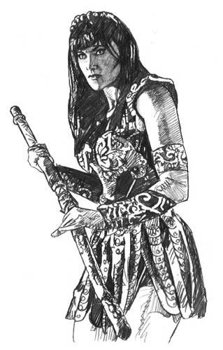 How to draw ssava Xena coloring book