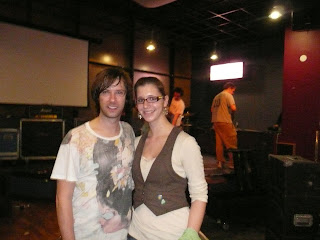 Me with Jacob Marshall, drummer for Mae, at the After Hours club at Northeastern University.