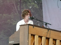 Relient K singer Matt Thiessen (who also plays guitar) rocks out on the piano at Revelation Generation, 2009.