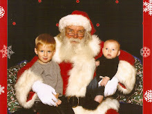 Oliver and Kellan with Santa