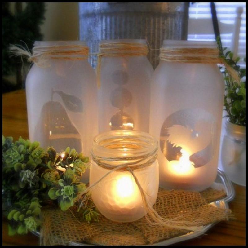 Dollar Store Crafter: Mason Jar Tea Lights