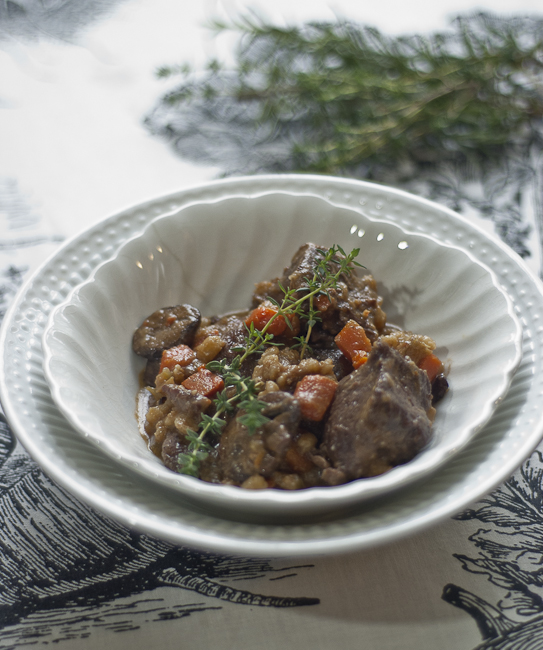Beef Stew With Barley and Mushrooms - Over The Hill and On ...