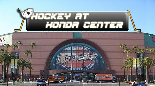 Hockey at Honda Center