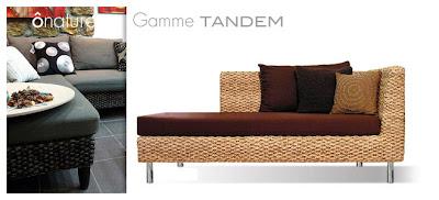 Sofa pour le salon dans une ambiance contemporaine et nature