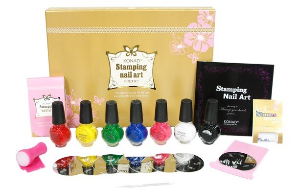 Stamping Nail Art Nail Art Kit Gold Deluxe Kit