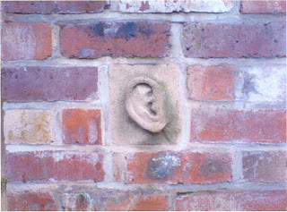 Cloud's ear on a wall