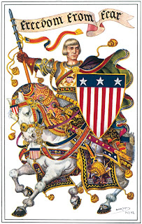 Arthur Szyk - Freedom From Fear - drawing