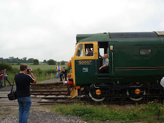 English Electric train at Midland Railway Centre, Ripley, 28th June 2009