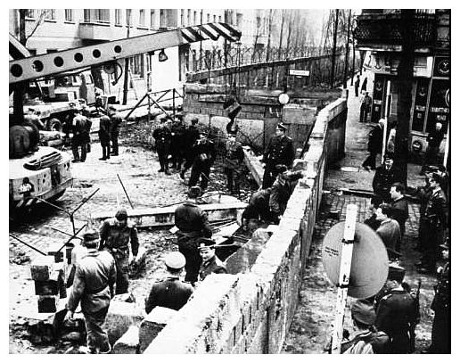 the reason for the construction of the berlin wall The extravagant hoopla began months ago in berlin  in 1961, the east berlin  communists built a wall to keep their oppressed citizens from escaping to west  berlin and freedom  what other reason could there have been.