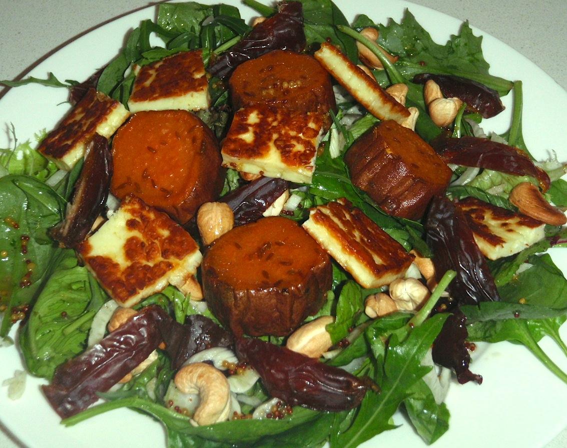 Kumara and Haloumi Cheese Salad | Ms Opinionated - Angela Sparks (Borg ...