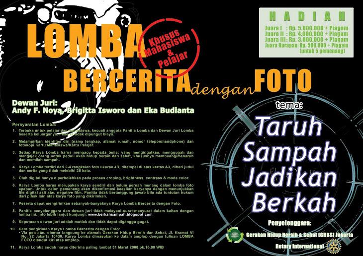 Poster Lomba BERCERITA dengan FOTO