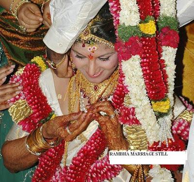 Actress Ramba marriage still