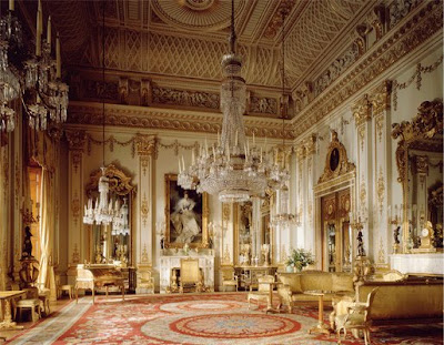Interior of Buckingham Palace, London
