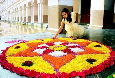 Onam Festival and Kolam