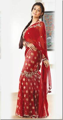 Nayanthara sari stills