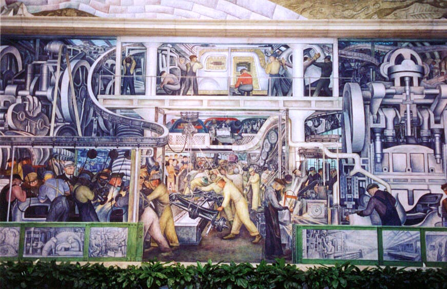 Ramona 39 s repository diego rivera assistants remember for Diego rivera mural detroit