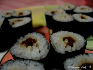 Flower-shaped kampyo maki