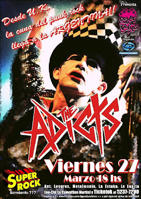 The Adicts confirma fecha en Argentina