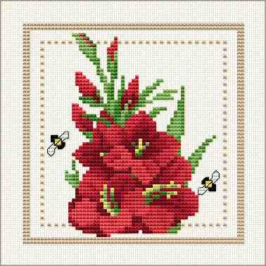 Good Life 2 Go Free Cross Stitch Chart Flower Of The
