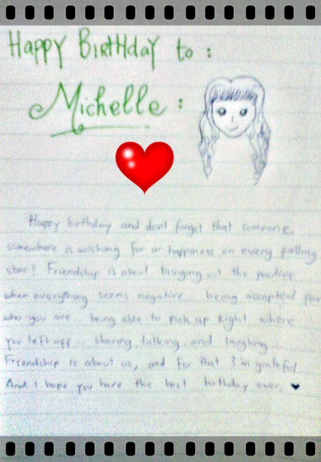 HAPPY BIRTHAY MICHELLE ...