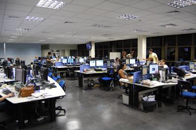 Nueva redacción integrada de 'A Gazeta', inaugurada el 10 de septiembre. Foto: R. Salaverría, 10/09/2008