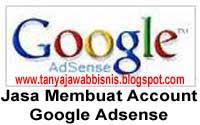 Jasa Membuat Account Google Adsense