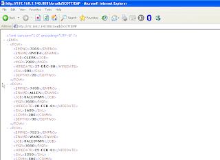 Tabellendaten als XML - im Browser
