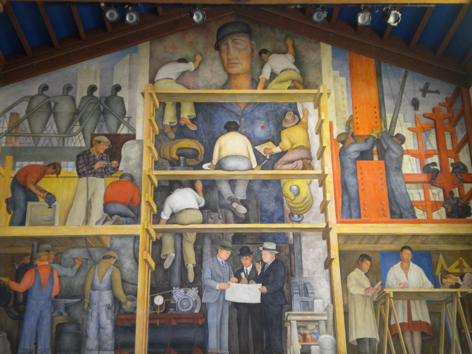 Murals diego rivera san francisco usa art for Diego rivera mural in san francisco