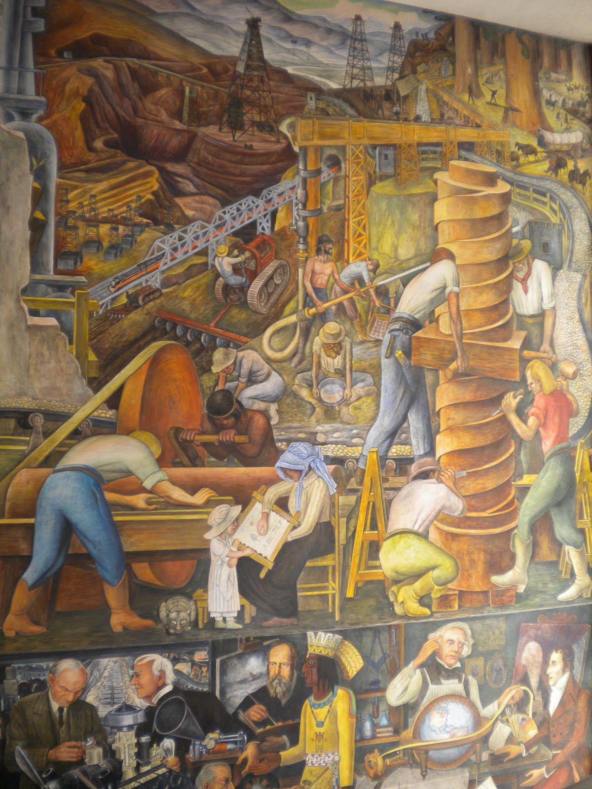 Murals diego rivera san francisco usa art for Diego rivera mural san francisco art institute