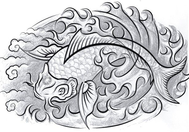 The Koi fish has long been a favorite tattoo design because
