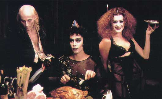 a review of the rocky horror picture show a cult movie The rocky horror picture show  moving on from the riotous cult stage show which was  strong violence, horror, gore, and strong drug use a movie rated r for.