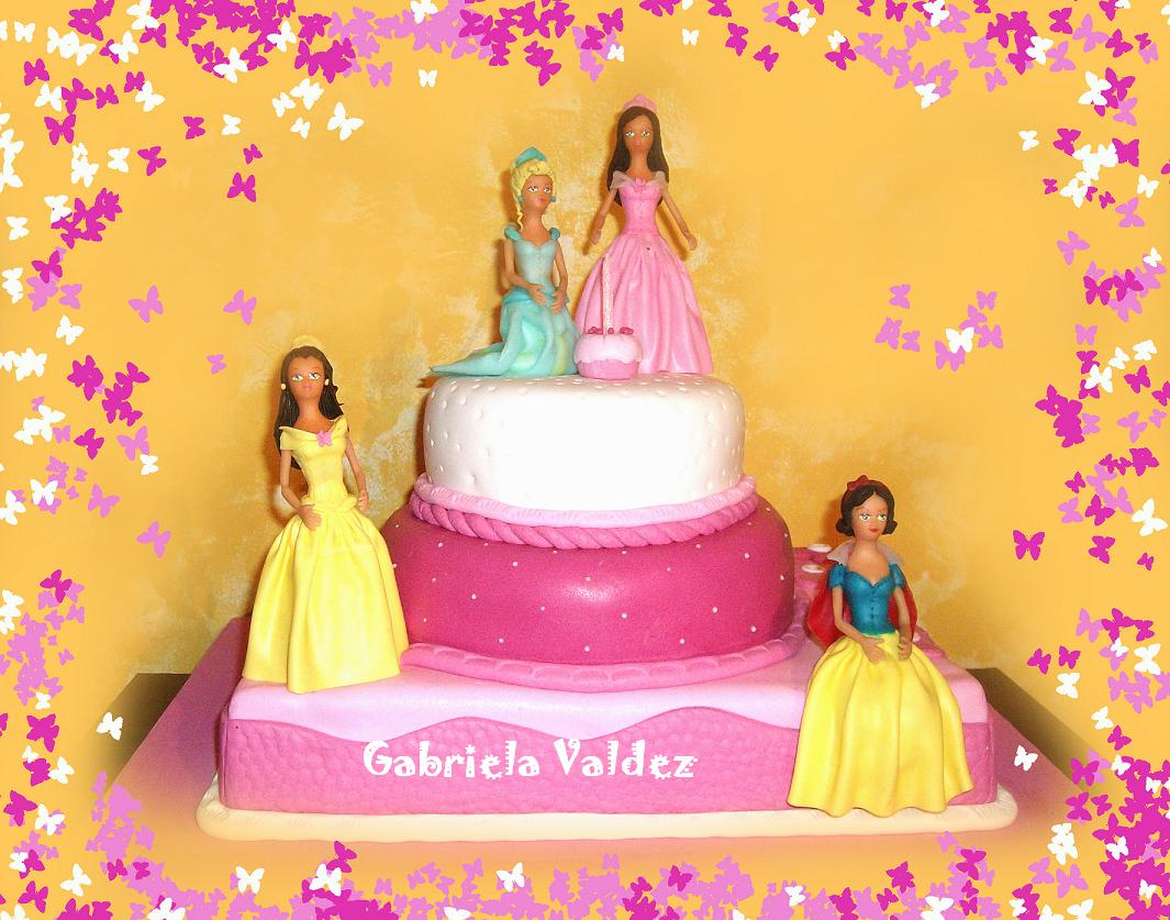 Tortas Decoradas Cakes - Gabriela Valdez: TORTA DE PRINCESAS